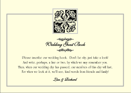 Brambles Wedding Stationery Guest Book First Page