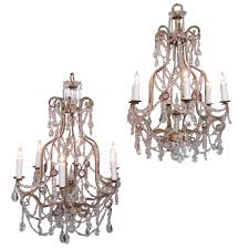 early 20th century italian piedmont crystal and amethyst chandeliers for