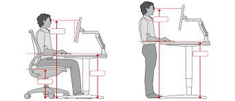 ergonomic desk setup. Enchanting Ergonomic Standing Desk Setup Office Height H