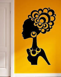 wall stickers vinyl decal hot sexy girl black african lady cool decor ig2271  on black woman silhouette wall art with wall stickers vinyl decal hot sexy girl black african lady cool