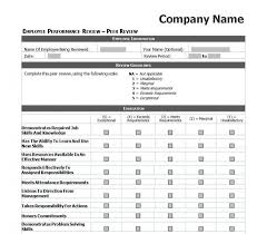 Performance Appraisal Sample Form 009 Template Ideas Employee Evaluation Forms Templates