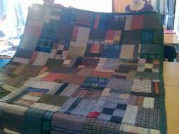 Quilt made by Irene Curren for her son using Harris tweed and ... & Quilt made by Irene Curren for her son using Harris tweed and tartans Adamdwight.com