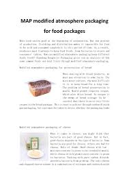 Map Modified Atmosphere Packaging For Food Packages