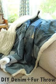 DIY Denim and Faux Fur Throw Blanket – Chic & Cozy for Fall! & DIY Denim Fur Throw Craft Adamdwight.com