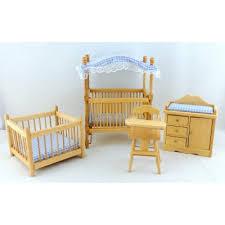 blue nursery furniture. Dolls House Light Oak Blue Gingham Nursery Furniture Miniature Baby Boy Room Set O