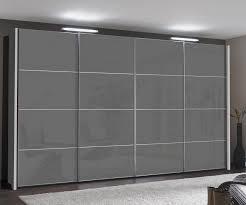wiemann miami 2 dark grey glass sliding door wardrobe h217cm