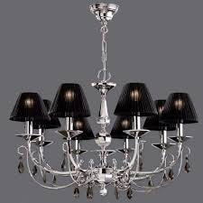 charming mini chandelier shades shades of black and lit candle set with crystals
