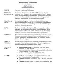 industrial maintenance sample resume httpexampleresumecvorgindustrial maintenance entry level engineering resume