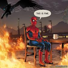 spider man and the this is fine dog have a lot in common inverse