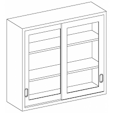 stainless steel wall cabinet with