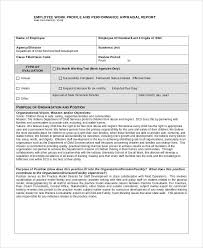 Performance Appraisal Example 9 Samples In Pdf Word Employee Info