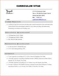 Cv Resume Format Pdf Yralaska Com