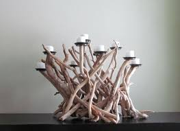 Driftwood Ten Candles Candelabra White by DriftingConcepts on Etsy