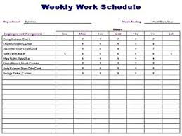 Sample Work Schedule For Employees Blank Weekly Work Schedule Form Download Them Or Print