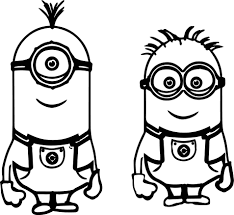 Characters of these pictures are funny yellow creatures slightly resembling aliens and doing their best to please their host. Minion Coloring Pages Printable For Kids Minions Coloring Pages Minion Coloring Pages Minion Drawing