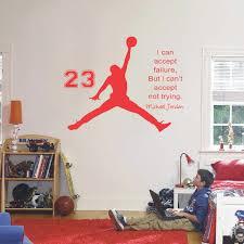 michael jordan basketball inspirational wall sticker es vinyl wall decals wall mural art kids children room decor wall stickers