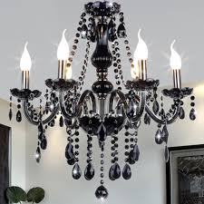 black crystal chandelier lighting fixtures