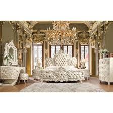 Homey Design HD-8030 4pc California King Bedroom Set in White