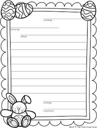 Easter Templates Friendly Letter Writing Easter Templates By The Think Aloud Cloud