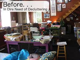How To Declutter A Craft Room Shiny Happy World Inspiration How To Declutter A Bedroom