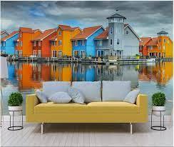 3d wallpaper custom photo Water city ...