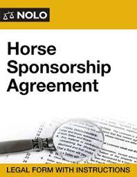 sponsorship agreement horse sponsorship agreement nolo