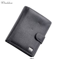 high quality mens gentleman black large bifold genuine real leather wallet credit id card slots coin pouch purse