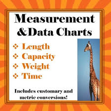 Measurement And Data Conversion Anchor Charts Freebie