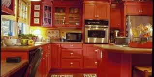 Red country kitchens Small Space 14 Yellow And Red Country Kitchen Ergasiainfo Category Kitchen Ergasiainfo