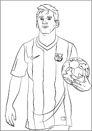 Lionel Messi Soccer Player Coloring Sheet Sport Coloring Page