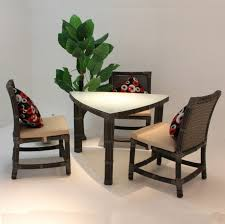 hit dining room furniture small dining room. Furniture:Simple Dining Room Design With Brown Wicker Chairs Feat Black Cushions And Triangle Hit Furniture Small