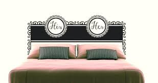 his and hers wall decor his and her headboard wall decal wall decor target australia
