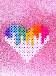 1000 ideas about perler beads pearler beads hama melting heart pixel perler bead by blackoutdoll com on