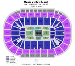 Mandalay Event Center Seating Chart Mandalay Bay Events Center Tickets And Mandalay Bay