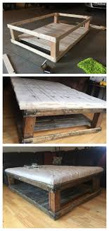Reclaimed Pallet Coffee Table With Storage Trays  22nd DesignsPallet Coffee Table Etsy