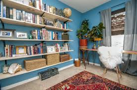 home office awesome house room. Home Office Blue Modern With Dark Brown Furniture The Doodle House Inside Awesome And Also Interesting Room E