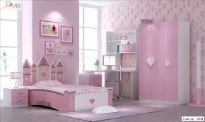 Pink Childrens Bedroom Bedrooms Pink Castle Kids Bedroom Hardwood Floor Nightstands Led