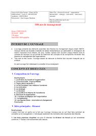 100 Ans De Management La Fiche De Lecture