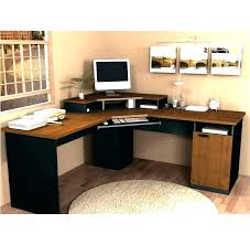 bestar hampton corner workstation computer desk brown black canada