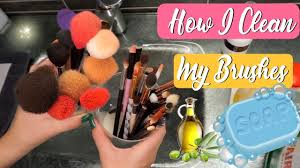 how i deep clean my makeup brushes v e r a