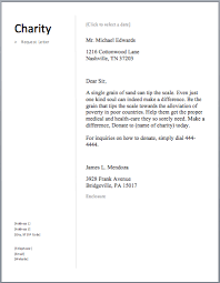 Sample Charity Letter Free Letters Asking For Donations Made Easy