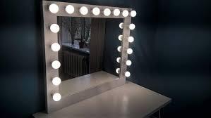 Description. Handmade large vanity mirror with lights ...