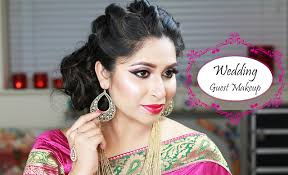 indian deshi south asian wedding reception guest makeup tutorial shahnaz shimul list of all s