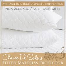 fitted mattress protector. Claire De Solene FITTED MATTRESS PROTECTOR / Add On Option For Bolster And Pillow Available Fitted Mattress Protector