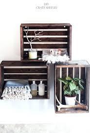 diy corner shelf from old door crate shelves after a paint diy corner shelf door