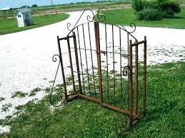 wrought iron garden fence panels trellis scroll cool antique ir