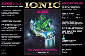 Ionic Bloom Single Part Plant Nutrient Increased Budding