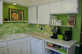 fascinating lime green kitchen cabinets l shape black and ceramic tiles also ikea