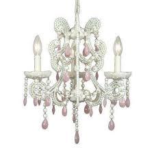 xavier 3 light pink chandelier