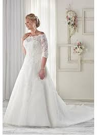 Graceful Lace Off The Shoulder Plus Size Wedding Dresses